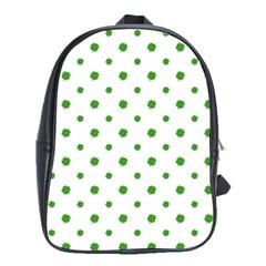 Saint Patrick Motif Pattern School Bags(Large)