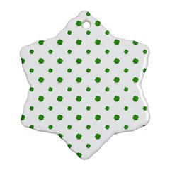 Saint Patrick Motif Pattern Snowflake Ornament (Two Sides)