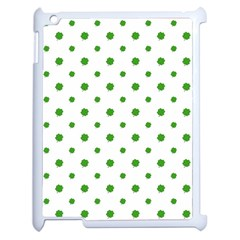 Saint Patrick Motif Pattern Apple iPad 2 Case (White)