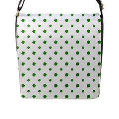 Saint Patrick Motif Pattern Flap Messenger Bag (L)