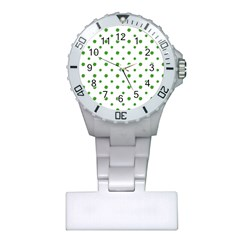 Saint Patrick Motif Pattern Plastic Nurses Watch