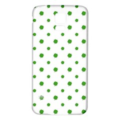 Saint Patrick Motif Pattern Samsung Galaxy S5 Back Case (White)