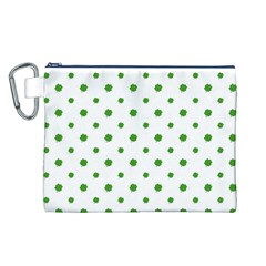 Saint Patrick Motif Pattern Canvas Cosmetic Bag (L)