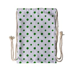 Saint Patrick Motif Pattern Drawstring Bag (Small)