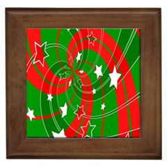 Background Abstract Christmas Framed Tiles