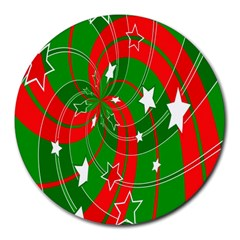 Background Abstract Christmas Round Mousepads