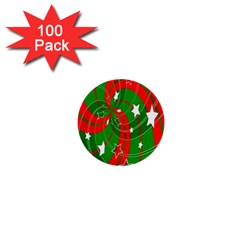 Background Abstract Christmas 1  Mini Buttons (100 pack)