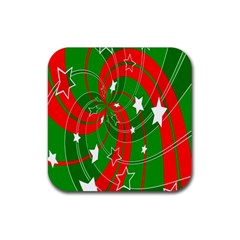 Background Abstract Christmas Rubber Coaster (square)