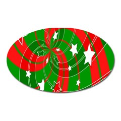 Background Abstract Christmas Oval Magnet