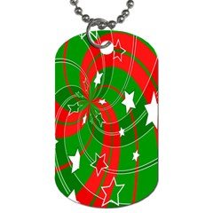 Background Abstract Christmas Dog Tag (two Sides)