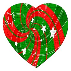 Background Abstract Christmas Jigsaw Puzzle (Heart)