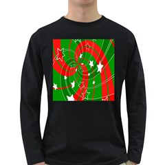 Background Abstract Christmas Long Sleeve Dark T-Shirts