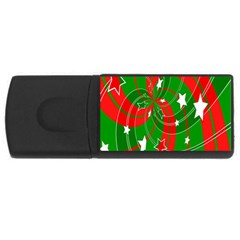 Background Abstract Christmas USB Flash Drive Rectangular (4 GB)