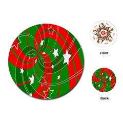 Background Abstract Christmas Playing Cards (Round)