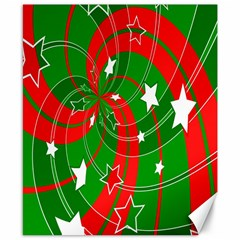 Background Abstract Christmas Canvas 8  x 10