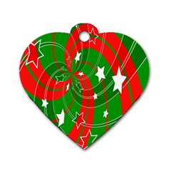 Background Abstract Christmas Dog Tag Heart (Two Sides)