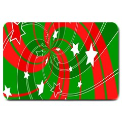 Background Abstract Christmas Large Doormat