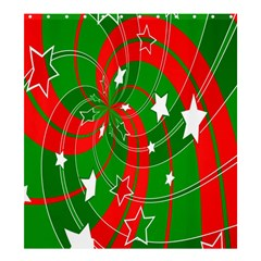 Background Abstract Christmas Shower Curtain 66  x 72  (Large)