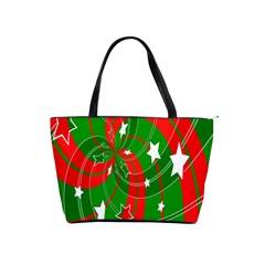 Background Abstract Christmas Shoulder Handbags