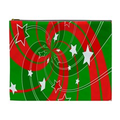 Background Abstract Christmas Cosmetic Bag (XL)