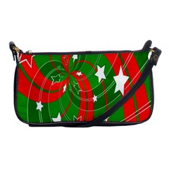 Background Abstract Christmas Shoulder Clutch Bags