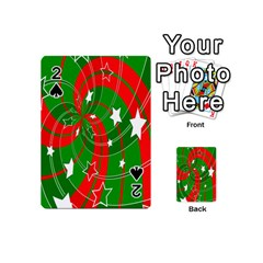 Background Abstract Christmas Playing Cards 54 (Mini)