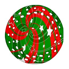 Background Abstract Christmas Ornament (Round Filigree)