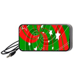 Background Abstract Christmas Portable Speaker (Black)