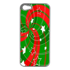 Background Abstract Christmas Apple iPhone 5 Case (Silver)