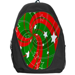 Background Abstract Christmas Backpack Bag