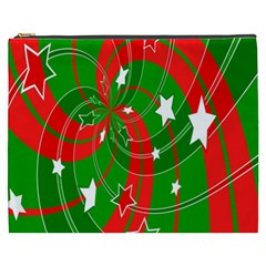 Background Abstract Christmas Cosmetic Bag (XXXL)