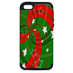 Background Abstract Christmas Apple iPhone 5 Hardshell Case (PC+Silicone)
