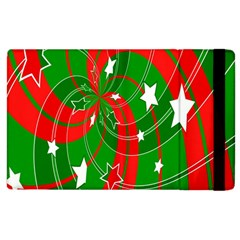 Background Abstract Christmas Apple iPad 3/4 Flip Case