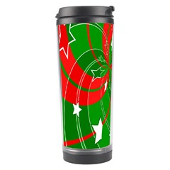 Background Abstract Christmas Travel Tumbler