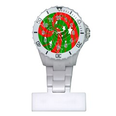 Background Abstract Christmas Plastic Nurses Watch
