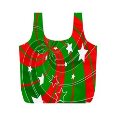 Background Abstract Christmas Full Print Recycle Bags (m)