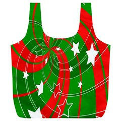 Background Abstract Christmas Full Print Recycle Bags (l)