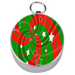 Background Abstract Christmas Silver Compasses