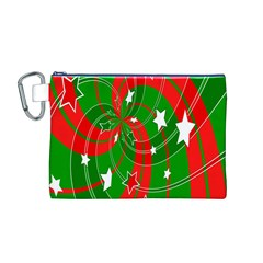 Background Abstract Christmas Canvas Cosmetic Bag (M)