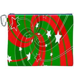 Background Abstract Christmas Canvas Cosmetic Bag (XXXL)