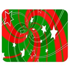 Background Abstract Christmas Double Sided Flano Blanket (Medium)