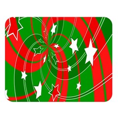 Background Abstract Christmas Double Sided Flano Blanket (large)