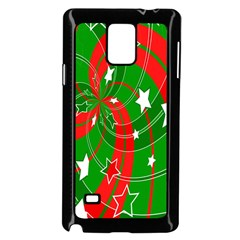 Background Abstract Christmas Samsung Galaxy Note 4 Case (black)