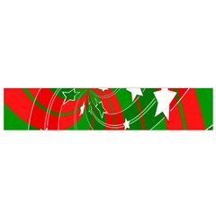 Background Abstract Christmas Flano Scarf (Small)