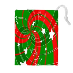 Background Abstract Christmas Drawstring Pouches (Extra Large)