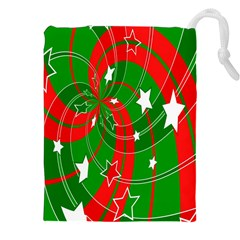 Background Abstract Christmas Drawstring Pouches (XXL)