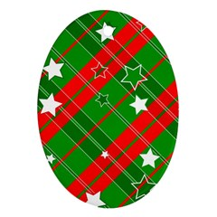 Background Abstract Christmas Ornament (Oval)