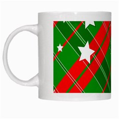 Background Abstract Christmas White Mugs