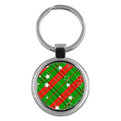Background Abstract Christmas Key Chains (Round)