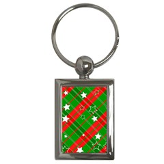 Background Abstract Christmas Key Chains (Rectangle)